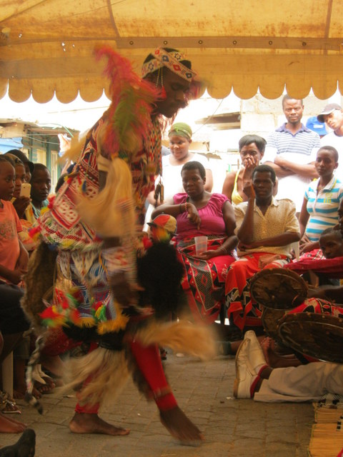 Sangoma Dancing in Celebration of his ancestors